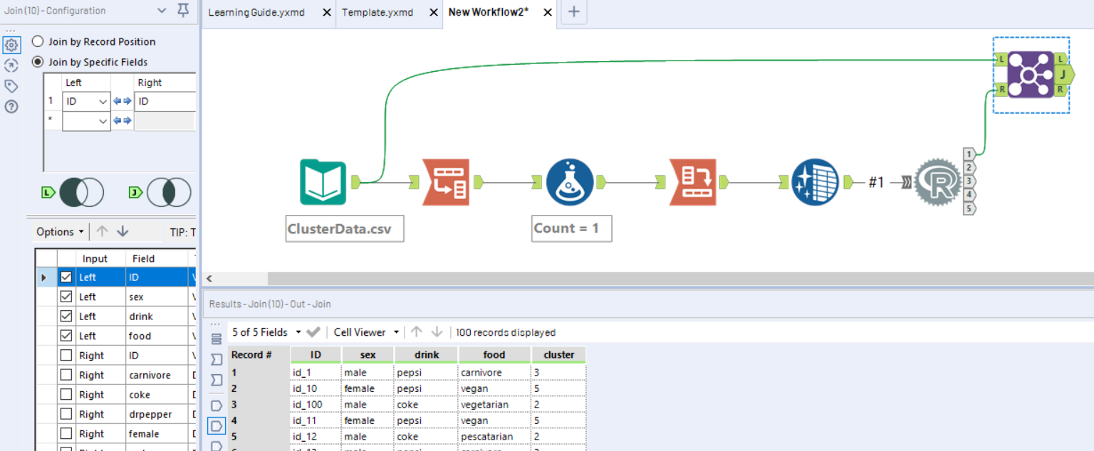Clustering continuous and categorical data in Alteryx - The